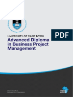 UCT Advanced Diploma in Business Project Management