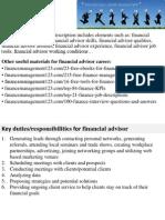 Financial Advisor Job Description