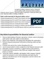 Financial Auditor Job Description