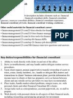 Financial Consultant Job Description