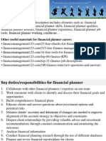 Financial Planner Job Description