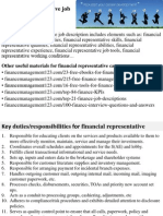 Financial Representative Job Description