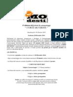 Bando e Regolamento - Corti Mo'Desti 2015