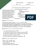 Evaluation de Grammaire Eb9