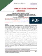 Role of QuantiFERON-TB Gold in diagnosis of Tuberculosis