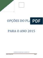 Opções do Plano 2015