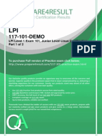 LPI 117-101 Questions & Answers Up to Date December 2014