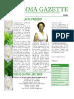 Gamma Gazette, Fall 2009 issue
