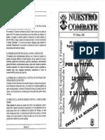 Nuestro Combate N 3. Marzo 2002 (FE-La Falange)