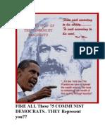 28986083 75 Democrat Communist Gave You High TAXES ObamaCare