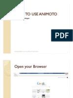 Emil_patayon_How to Use Animoto