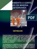 Planeamiento Minado en Mineria Subterranea