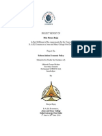 KNUC  Research Publication on Reform Indian Economic Policy