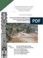 PROYECTOS DE EDUCACION AMBIENTAL - Distrito de San Jerónimo de Surco - Prov Huarochirí - Gob Region Lima