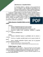 Direcţii Esenţiale Ale Politicii Financiare a Republicii Moldova