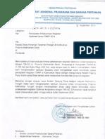 Surat Dirjen Kementan