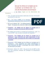 La Banque de Sujets d' EC Rédigées Par Les Élèves Et Corrigées Par Le Professeur Portant Sur Le Thème 122