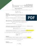Corrección Examen Final Cálculo III, 8 de diciembre de 2014