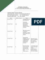 Internship Time Sheet