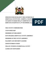 JAMHURI DAY 2O14  SPEECH BY H.E THE GOVERNOR JOSEPH K.NDATHIJamhuri Day Speech