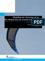 Modelling the Dynamics of an Arc-shaped Kite for Control Law Design