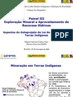 Miguel Antonio Cedraz Nery - Terras indigenas Agenda Camara- novembro de 2006 - Miguel Antonio Cedraz Nery.ppt