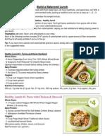 Build a Balanced Lunch & Breakfast