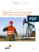 Implications of the Union Budget 2014 on the Oil and Gas Industry
