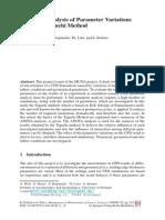 Statistical Analysis of Parameter Variations Using the Taguchi Method