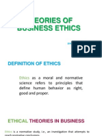 Theories of Business Ethics
