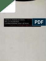 Crítica Intercultural de la Filosofía Latinoamericana Actual
