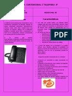 Tabla Telefonia Convencional y Telefonia Ip
