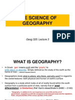 Lecture 3 the Science of Geography