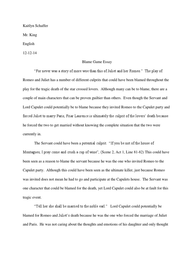 Death romeo and juliet essay ps3 better than xbox 360 essay