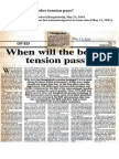 Iftikhar-ul-Awwal (2001) 'When will the border tension pass?', published in The Independent (Bangladesh), May 23, 2001
