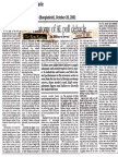 Iftikhar-ul-Awwal (2001) 'Anatomy of AL poll debacle', published in The New Nation (Bangladesh), October 20, 2001