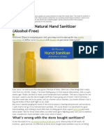 Alcohol Free Hand Sanitizers