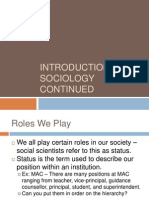 roles we play and socialization