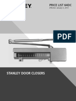 Stanley Door Closer Price Book- 2015