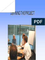 4 Defining the Project