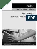 Controlled Assessment Exemplar Work - AQA GCSE B History
