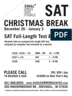Cresskill - SAT Test Review Flyer Christmas