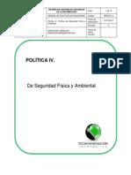 IV.politica de Seguridad Física y Ambiental