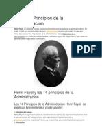 Fayol Principios de La Administracion