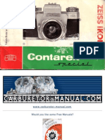 Contarex Special Camera Instruction Manual