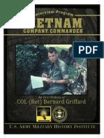 Oral History of COL Ret Bernard Griffard