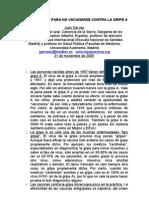 Gripe Ocho Razones No Vacunarse Nov 2009