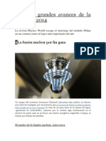 Los Diez Grandes Avances de La Física en 2014 ( 4-La Fusión Nuclear Por Fin Gana )