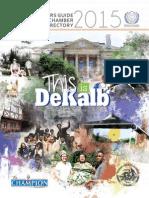 2015 Newcomers Guide & DeKalb Chamber Membership Directory