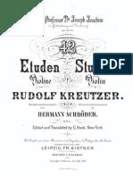 Rudolph Kreutzer Violin Etudes